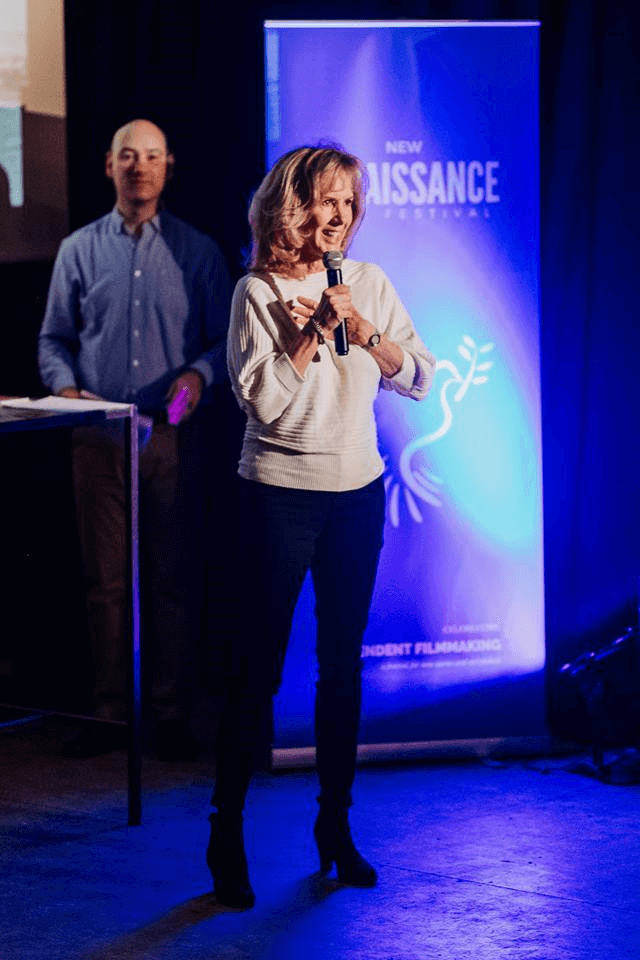Sheri Accepting an Award in Amsterdam